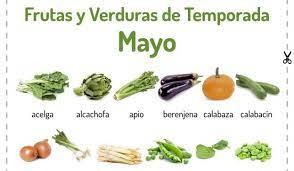 FRUTAS Y VERDURAS DEL MES DE MAYO